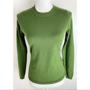Banana Republic • Olive Green Italian Wool Sweater
